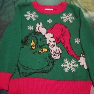 """NWOT Christmas """"Grinch"""" Sweater 3T"""